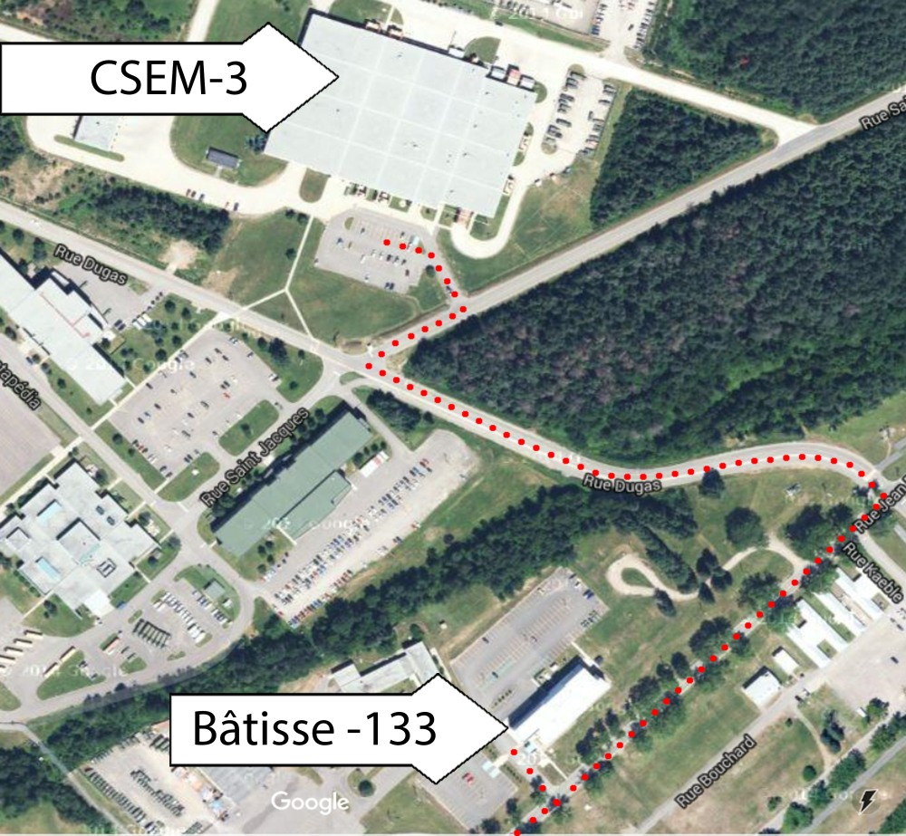 Slide - Map to Building 133 and CSEM 3