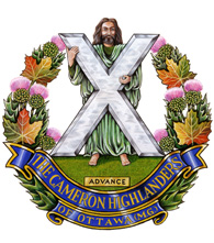 The Cameron Highlanders of Ottawa crest