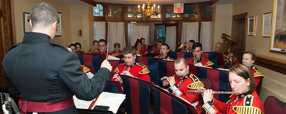Slide - The Regimental Band of the Governor General's Foot Guards performs