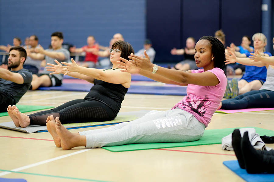 Members of the 2nd Canadian Division participate in the Exercise YOGA 2018 session, organized as part of International Women's Day, March 8, 2018, at Canadian Forces Base/Area Support Unit Montreal. 