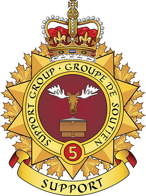 The newly re-designed 5th Canadian Division Support Group badge
