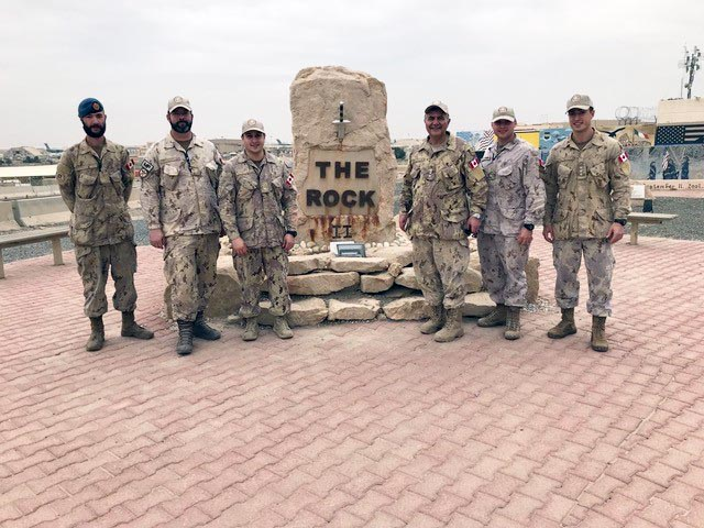 Honorary Colonel of the Canadian Army Paul Hindo at Ali al Salem Air Base in Kuwait. HCol Hindo travelled between Kuwait and Iraq each day to attend meetings during a recent visit with Canadian troops.  Photo: Provided by Honorary Colonel Paul Hindo.