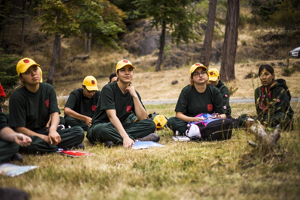 Junior Canadian Rangers (JCRs) from across Canada participate at Pearson College in Victoria, British Columbia on August 8, 2019 during the JCR National Leader Enhanced Training Session 2019 (NLETS 19), which took place from August 7 to 20, 2019. Photo: Second Lieutenant Christopher King, Regional Cadet Support Unit (Northwest). ©2019 DND/MDN Canada.
