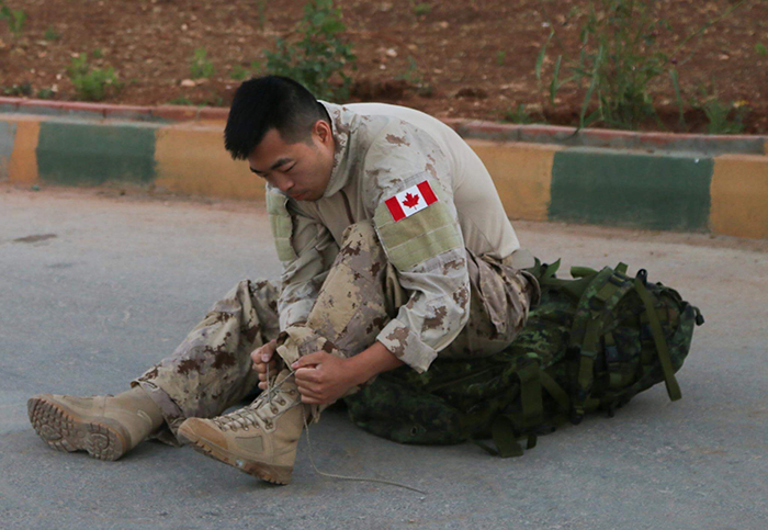 Inspired equally by the hard work of his parents, who relocated their family to Canada from South Korea, and the actions of Canadian soldiers during the Korean War, Captain Han Choi joined the Canadian Army. Capt Choi was a master of ceremonies at the 2019 Imjin Hockey Classic in Ottawa – a role he was happy to take on in tribute to the Canadians who fought in his country of birth during the Korean War. Photo: Provided by Captain Han Choi.
