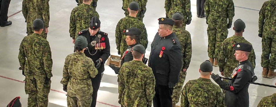 Slide - New members of The Queen's Own Rifles of Canada