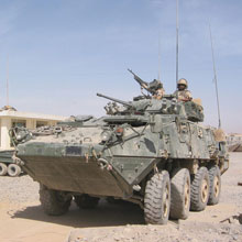 The LAV III can be used as a command post vehicle.