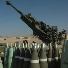 The M777 Howitzer can engage targets from 30 kilometres away.