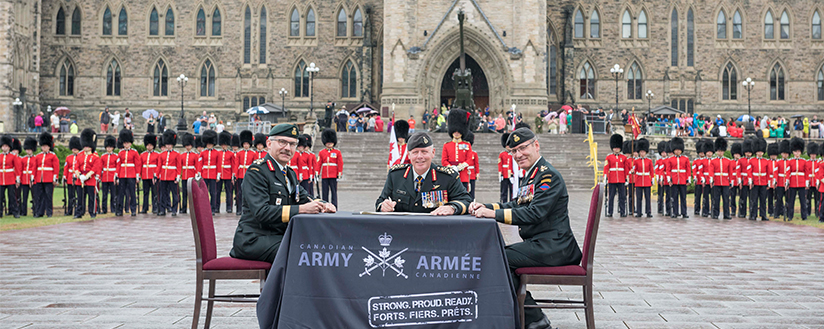 Slide - Commander Canadian Army Change of Command Ceremony